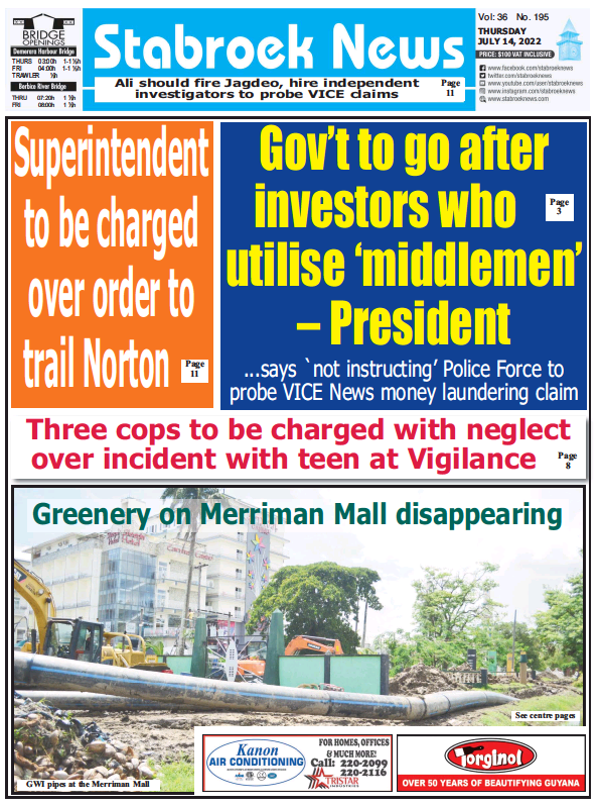 Read full digital edition of Stabroek News newspaper from Guyana
