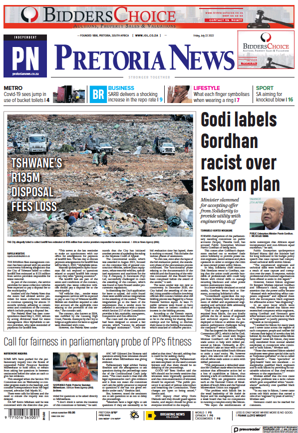 Read full digital edition of Pretoria News newspaper from South Africa