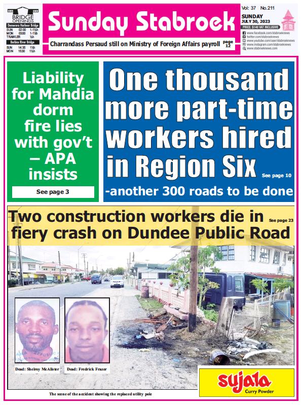 Read full digital edition of Stabroek News Sunday newspaper from Guyana