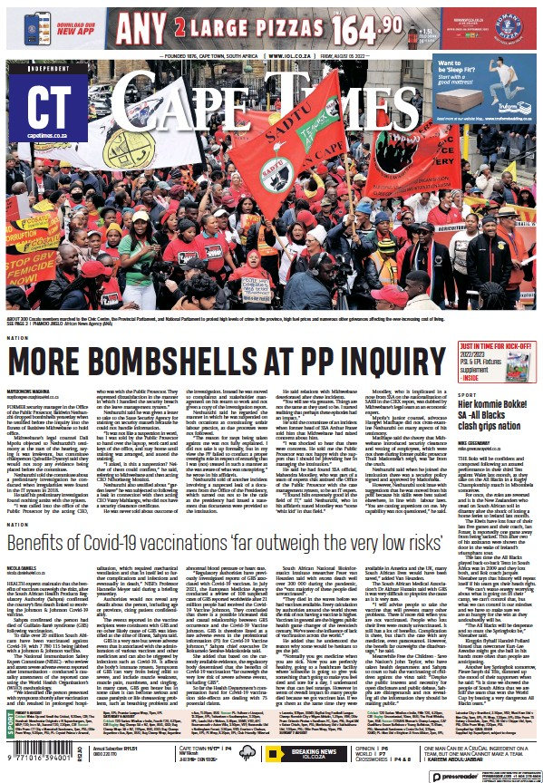 Read full digital edition of Cape Times newspaper from South Africa