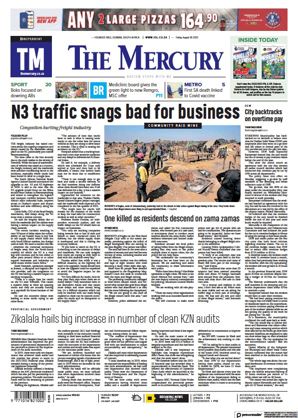 Read full digital edition of The Mercury newspaper from South Africa