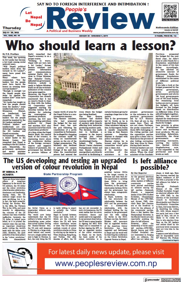 Read full digital edition of People's Review newspaper from Nepal
