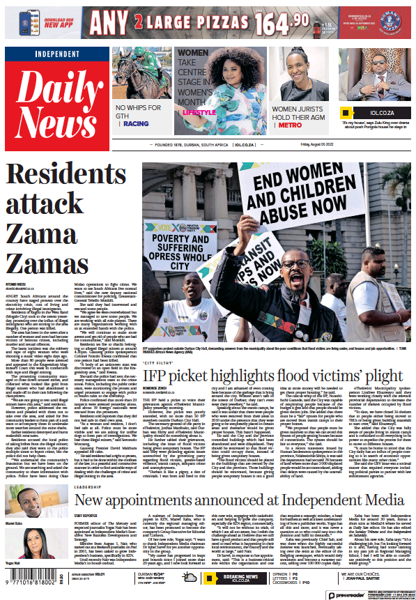 Read full digital edition of Daily News (Durban) newspaper from South Africa