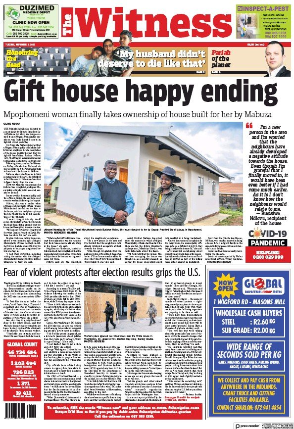 Read full digital edition of The Witness newspaper from South Africa