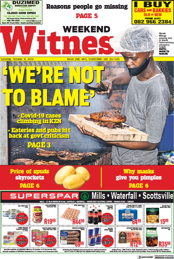 Read full digital edition of Weekend Witness newspaper from South Africa
