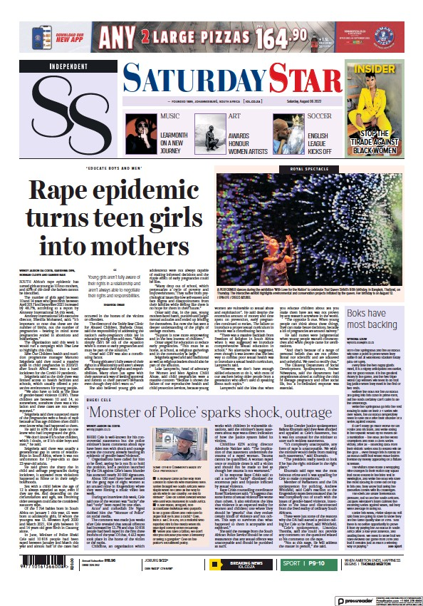 Read full digital edition of Saturday Star newspaper from South Africa