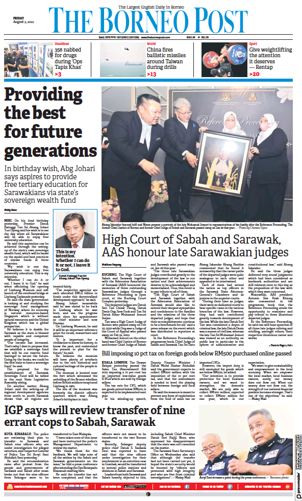 Read full digital edition of The Borneo Post newspaper from Malaysia