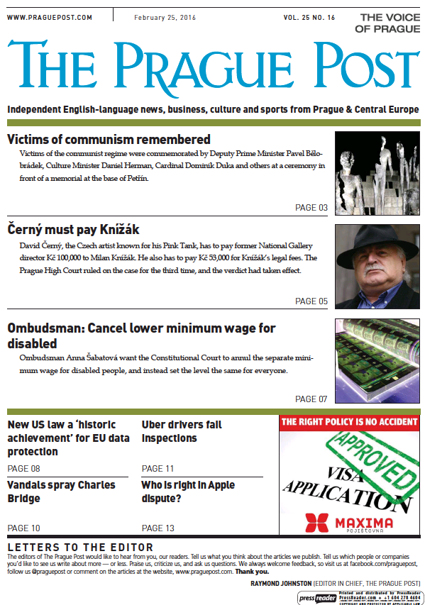 Read full digital edition of The Prague Post newspaper from Czech Republic