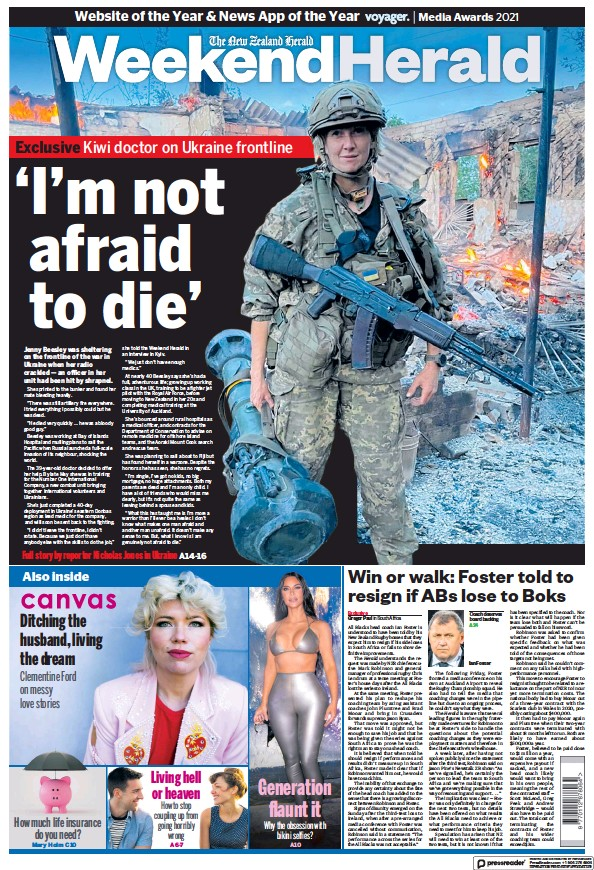 Read full digital edition of Weekend Herald (New Zealand) newspaper from New Zealand