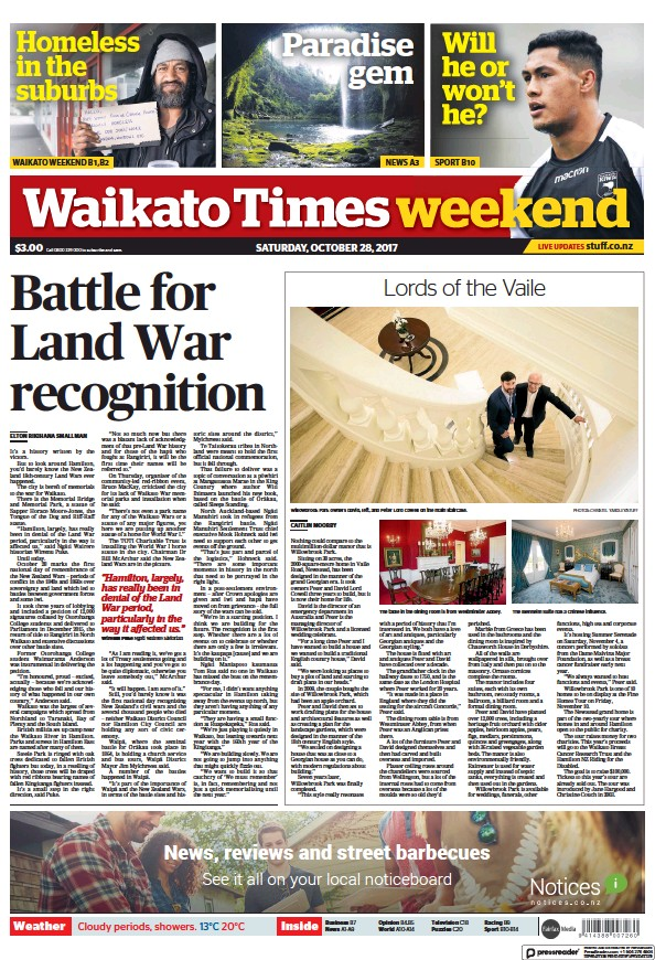 Read full digital edition of Waikato Times Weekend newspaper from New Zealand
