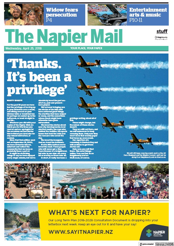 Read full digital edition of The Napier Mail newspaper from New Zealand