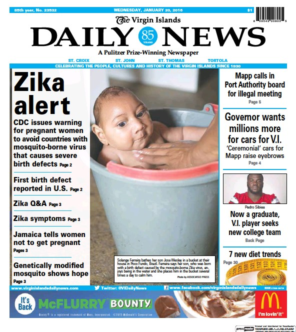 Read full digital edition of The Virgin Islands Daily News newspaper from Virgin Islands