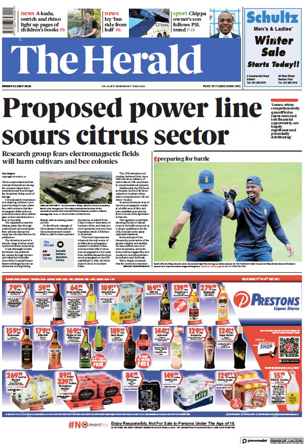 Read full digital edition of The Herald (South Africa) newspaper from South Africa