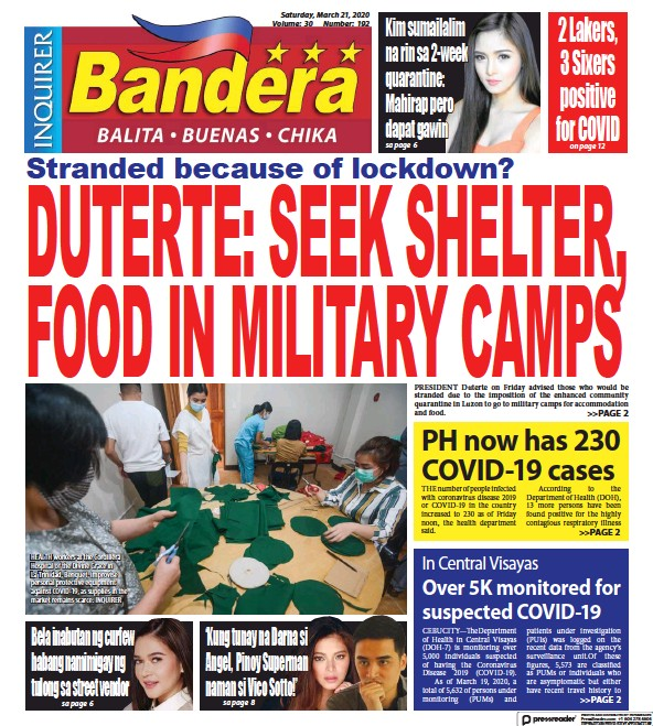 Read full digital edition of Bandera newspaper from Philippines