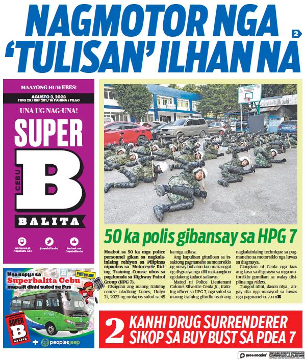 Read full digital edition of SuperBalita Cebu newspaper from Philippines