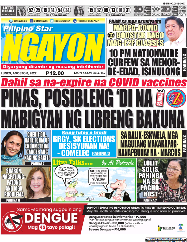 Read full digital edition of Pilipino Star Ngayon newspaper from Philippines