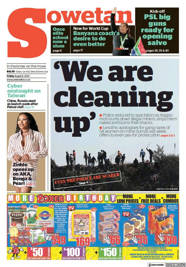 Read full digital edition of Sowetan newspaper from South Africa