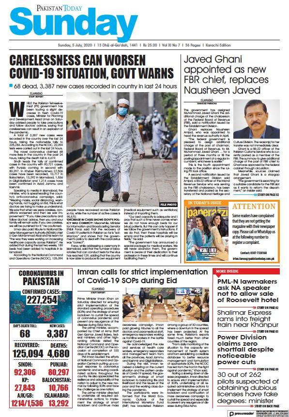 Read full digital edition of Pakistan Today (Karachi) newspaper from Pakistan
