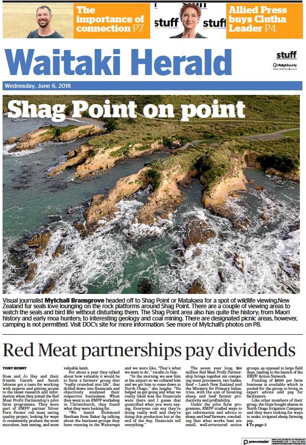 Read full digital edition of Waitaki Herald newspaper from New Zealand